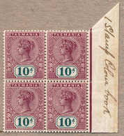 **/bof 1898, 10 D., Purple Lake And Deep Green, MNH Hinged In The Margin, IMPRIMATUR, M/s I STAMP COLOUR BOOK At The Mar - Australien