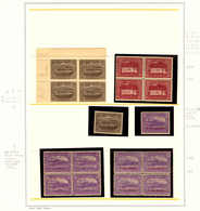 **/*/o/(*) 1899-1911, Large Collection Of Used And Mostly Unused (MH/MNH) On 12 Album Pages, Many Blocks Of (4), One Blo - Australien