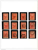 */o 1902, Collection Of (12) Used And Unused (MH) Singles On 1 Album Page, Showing Wmk Varieties, Perforation Varieties  - Australien