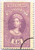 O 1895, 16 £, Violet, Wmk 10, Black Single Circle Canc., Fiscal Parliament Presentation Proof, LPOG, F!. Estimate 200€. - Australien