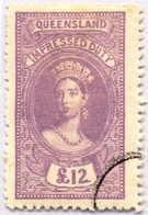 O 1895, 12 £, Violet, Wmk 10, Black Single Circle Canc., Fiscal Parliament Presentation Proof, LPOG, VF!. Estimate 300€. - Australien