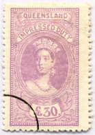 O 1895, 30 £, Violet, Wmk 10, Black Single Circle Canc., Fiscal Parliament Presentation Proof, LPOG, F!. Estimate 200€. - Australien