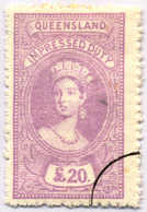 O 1895, 20 £, Violet, Wmk 10, Black Single Circle Canc., Fiscal Parliament Presentation Proof, LPOG, F!. Estimate 200€. - Australien