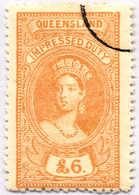 O 1895, 6 £, Ochre, Wmk 10, Black Single Circle Canc., Fiscal Parliament Presentation Proof, LPOG, F!. Estimate 200€. - Australien