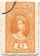 O 1895, 7 £, Ochre, Wmk 10, Black Single Circle Canc., Fiscal Parliament Presentation Proof, LPOG, F!. Estimate 200€. - Australien