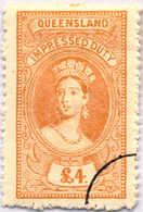 O 1895, 4 £, Ochre, Wmk 10, Black Single Circle Canc., Fiscal Parliament Presentation Proof, LPOG, F!. Estimate 200€. - Australien