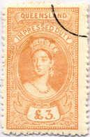 O 1895, 3 £, Ochre, Wmk 10, Black Single Circle Canc., Fiscal Parliament Presentation Proof, LPOG, F!. Estimate 200€. - Australien