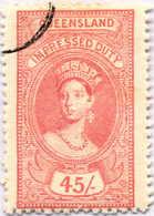 O 1895, 45 S., Rose Red, Wmk 10, Black Single Circle Canc., Fiscal Parliament Presentation Proof, LPOG, F!. Estimate 200 - Australien