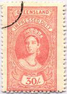 O 1895, 30 S., Rose Red, Wmk 10, Black Single Circle Canc., Fiscal Parliament Presentation Proof, LPOG, F!. Estimate 200 - Australien