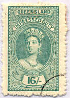 O 1895, 16 S., Blue Green, Wmk 10, Black Single Circle Canc., Fiscal Parliament Presentation Proof, LPOG, VF!. Estimate  - Australien