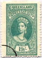 O 1895, 19 S., Blue Green, Wmk 10, Black Single Circle Canc., Fiscal Parliament Presentation Proof, LPOG, F!. Estimate 2 - Australien
