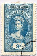 O 1895, 9 S., Blue, Wmk 10, Black Single Circle Canc., Fiscal Parliament Presentation Proof, LPOG, F!. Estimate 200€. - Australien
