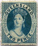 * 1860-61, 2 D., Blue, MH, XF!. Estimate 350€. - Australien