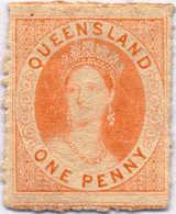* 1863, 1 D., Orange-vermillion, MH, VF!. Estimate 220€. - Australien