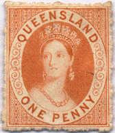 (*) 1862/67, 1 D., Deep Orange-vermillion, NG, XF!. Estimate 300€. - Australien