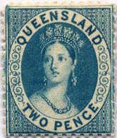 * 1863/67, 2 D., Pale Blue, MH, VF - XF!. Estimate 260€. - Australien
