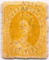 O 1875, 4 D., Yellow, Perf. 13, First Transfer, Used, XF!. Estimate 200€. - Australien