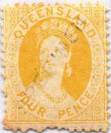 * 1868/78, 4 D., Yellow, Blue SPECIMEN Overprint, MH, F - VF!. Estimate 140€. - Australien