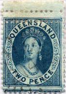 O 1868-78, 2 D., Perf. 12, Double Perforation At Top (!), Upper Margin Piece, VF!. Estimate 800€. - Australien