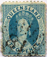 O 1868, 2d., Blue, Used, Comb.-perf. 12 1/2x13, Light Colour Shade, Very Fresh And Attractive, F-VF!. Estimate 700€. - Australien