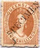 */(*) 1880, 5 Sh., Yellow Ochre, POG, TRIPLE H/s Opt. SPECIMEN, Two Furhter Imprints Of Parts Of Singel Letters At Foot, - Australien