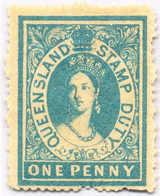 * 1866-68, 1 D., Blue, Wmk, MH, VF!. Estimate 100€. - Australien