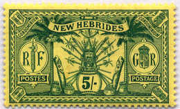 * 1911, 5 Sh., Green/yellow, MH, Very Fresh With Minor Gum Creasing Mentioned For Full Accuracy, VF!. Estimate 120€. - Neue Hebriden