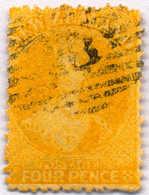 O 1866, 4 D., Yellow, VF!. Estimate 140€. - Neuseeland