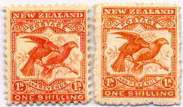* 1899, 1 Sh., Dull Orange Red, Dull Brown Red, (2), 2 Shades, VF!. Estimate 200€. - Neuseeland
