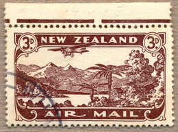 O 1931, 3 D., Chocolate, Used, Comb. Perf. 14 X 15, From The Upper Margin, Very Fresh And Well Centred, VF!. Estimate 50 - Neuseeland