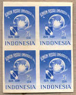 Bof/(*) 1949, 25 S., Blue, Block Of (4), Imperforated, Rare, NG, XF!. Estimate 1.300€. - Indonesien