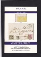 CATALOGUE DE VENTE SOLUPHIL 113  Eme 3 Eme Partie COLLECTION MELUSINA - Cataloghi Di Case D'aste