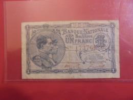 BELGIQUE 1 FRANC 1920 CIRCULER (B.9) - [ 2] 1831-... : Regno Del Belgio