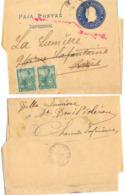 ARGENTINE ENTIER BANDE JOURNAL REPUBLICA ARGENTINA  =>PARIS Réexpédié ST DENIS D'OLERON CHARENTE INFERIEURE 7-8-1901 - Entiers Postaux