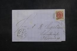 DANEMARK - Affranchissement Plaisant Sur Lettre En 1871 - L 46528 - 1864-04 (Christian IX)