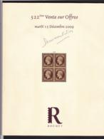 CATALOGUE DE VENTE ROUMET 522 Eme - Catalogues For Auction Houses