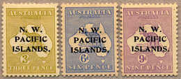* 1918-22, 3 D. - 9 D., Lot Of (3), SG 109 A Die II, 6 D. Greyish Ultramarine, With Opt, MH, VF!. Estimate 140€. - Papua-Neuguinea
