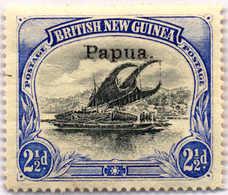 * 1907, 2 1/2 D., Black And Dull Blue, Thin Paper, MH, VF - XF!. Estimate 400€. - Papua-Neuguinea