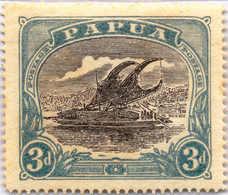 * 1916, 3 D., Error. Black And Deep Greenish, Prussian Blue, MH, XF!. Estimate 1.500€. - Papua-Neuguinea