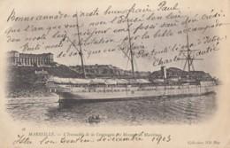 CPA - Le Paquebot L'Iraouaddy De La Compagnie Des Messageries Maritimes à Marseille - Steamers
