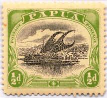 * 1907-10, 1/2 D., Black And Yellow Green, Inverted Wmk., MH, VF - XF!. Estimate 200€. - Papua-Neuguinea