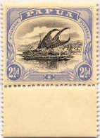 * 1907-10, 2 1/2 D., Black And Bright Ultramarine, Inverted Wmk., Bottom Margin Copy, MH, VF!. Estimate 400€. - Papua-Neuguinea