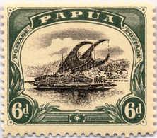 * 1907-10, 6 D., Black And Myrtle Green, Inverted Wmk., MH, F!. Estimate 200€. - Papua-Neuguinea