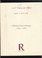 CATALOGUE DE VENTE ROUMET 511  Eme - Cataloghi Di Case D'aste