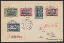 Ruanda-Urundi (1918) - N°28, 29x2, 30 Et 31 Sur Lettre En R De Kigoma Via Dares-Salam Vers Berne (Suisse) - 1916-22: Briefe U. Dokumente