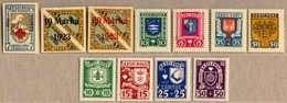 1921-37, Small Lot Of (11), Including 2 Full CARITAS Sets (1936 And 1937), All MH, VF!. Estimate 130€. - Estland