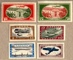 1918, 10-20s, 15-30s., Set Of (2) And 8-68s - 40-190s Impferorated, Set Of (4), All MH, F-VF. Estimate 340€. - Letland