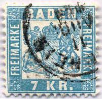 1868, 7 Kr., Hellblau, VF!. Estimate 130€. - Baden