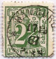 1867, 2 1/2 S., Grün, Plattennummer Rechts, Schöner Stempel Hamburg, VF!. Estimate 100€. - Zonder Classificatie