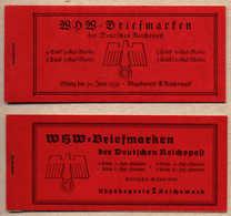 1939, 40, 2 Markenheftchen Winterhilfswerk 1938 Und 1939, Postfrisch, MNH, XF!. Estimate 260€. - Zonder Classificatie